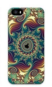 iCustomonline Abstract Pattern Designs Case Back Cover for iPhone 5 5S 3D PC Material
