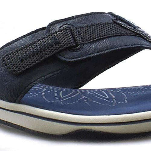 Earth Spirit Womens Navy Leather Comfort Sandal Blue zfI8XjDi3