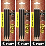 Pilot Gel Ink Refills for FriXion Erasable Gel Ink Pen, Fine Point, Black