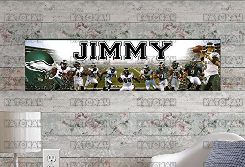 Customized Name Painting Philadelphia Eagles 2 Poster With Your Name On It Personalized Banner -