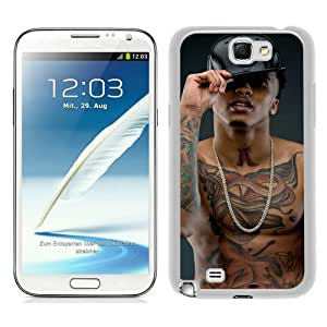 August Alsina White New Style Custom Samsung Galaxy Note 2 N7100 Cover Case