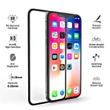 Curved Tempered Glass Screen Protector for iPhone Xs max(Black),Anti-Scratch, Anti-Fingerprint, Bubble Free(3D Touch Compatible) 9H 5D Curved Mobile Phone toughened Glass Protective Film [2 Pack]