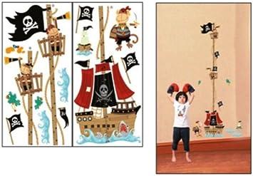 Gr/áfico de crecimiento decorado con piratas para la habitaci/ón de los ni/ños