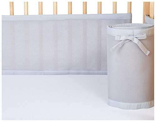 Best breathable mesh crib bumper white