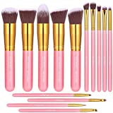 BS-MALL New 14 Pcs Makeup Brushes Premium Synthetic