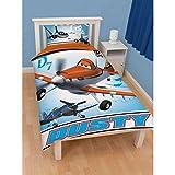 Disney Planes Kids Boys Prop Reversible Single Duvet Cover Bedding Set (Twin Bed) (Blue)
