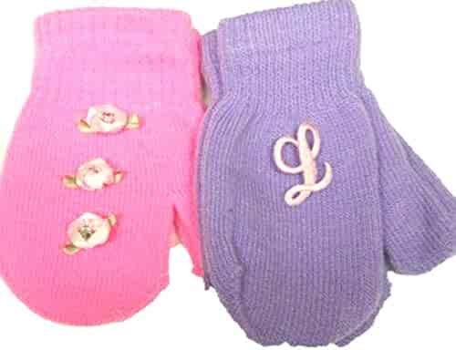 Gloves & Mittens Set of Two Pairs Magic Mittens for Infants Ages 3-12 Months