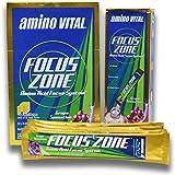 Amino Vital Focus Zone - Amino Acids (BCAAs, Glutamine, Arginine) + Electrolyte Powder Drink Mix, Grape Sensation, 32 x 5.6g Single-Serve Stick Packs, 6.3oz Box