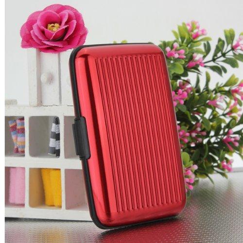 Yuhemii Business porta carte di credito in alluminio del metallo box taglia unica Hot Pink