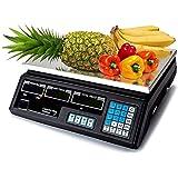 MAXELLPOWER BASCULA Digital BALANZA Digital Electronica para Comercio Pesa FRUTERA 40KG MP-BCS30