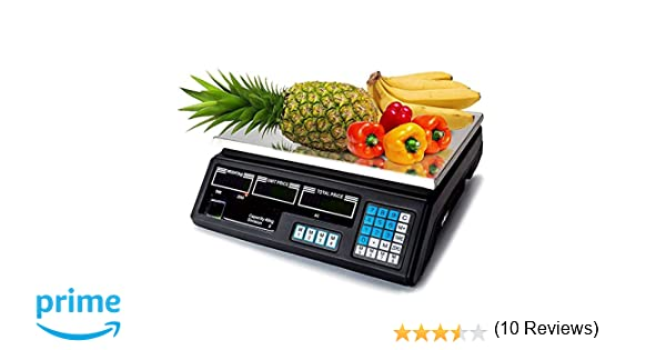 MAXELLPOWER BASCULA Digital BALANZA Digital Electronica para Comercio Pesa FRUTERA 40KG MP-BCS30: Amazon.es