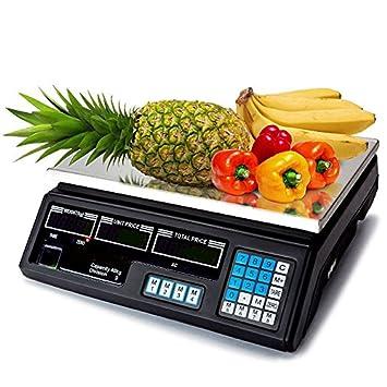 MAXELLPOWER BASCULA Digital BALANZA Digital Electronica para Comercio Pesa FRUTERA 40KG MP-BCS30: Amazon.es: Hogar