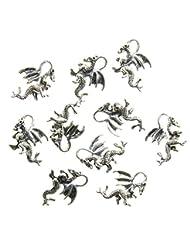 AVBeads Dragon Charms, 10 pieces, Antique Silver