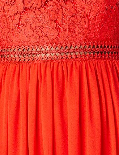 di amp; Pizzo TRUTH Rosso Donna Vestito Midi FABLE Red qHxIwR