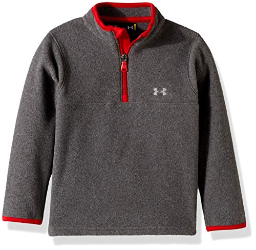 - Under Armour Boys' Toddler Quarter Zip Pull Over Jacket, Charcoal Heathered, 3T