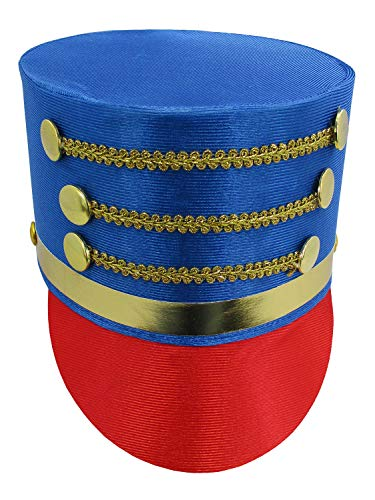 Deluxe Toy Soldier Hat, Multi, One Size Blue/Red]()