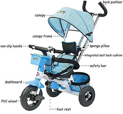 Amazon.com: Canchn Tricycle para niños, ruedas de PVC para ...