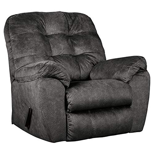 Ashley Furniture Signature Design - Accrington Contemporary Rocker Recliner Chair - Manual Reclining - Granite