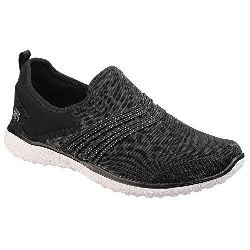 Calzado deportivo para mujer, color gris , marca SKECHERS, modelo Calzado Deportivo Para Mujer SKECHERS MICROBURST UNDER WRAPS Gris Blanco/Negro
