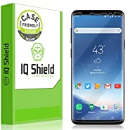 Galaxy S9 Plus Screen Protector [2-Pack], IQ Shield LiQuidSkin Full Coverage Bubble-Free [Case-Friendly] Screen Protector for Galaxy S9 Plus HD Clear Film