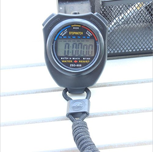 New Sports Stopwatch Professional Handheld Digital LCD Sports Stopwatch Chronograph Counter Timer with Strap