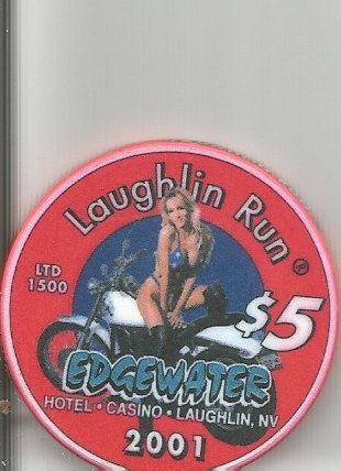 $5 edgewater laughlin casino chip 22nd river - Casino Laughlin