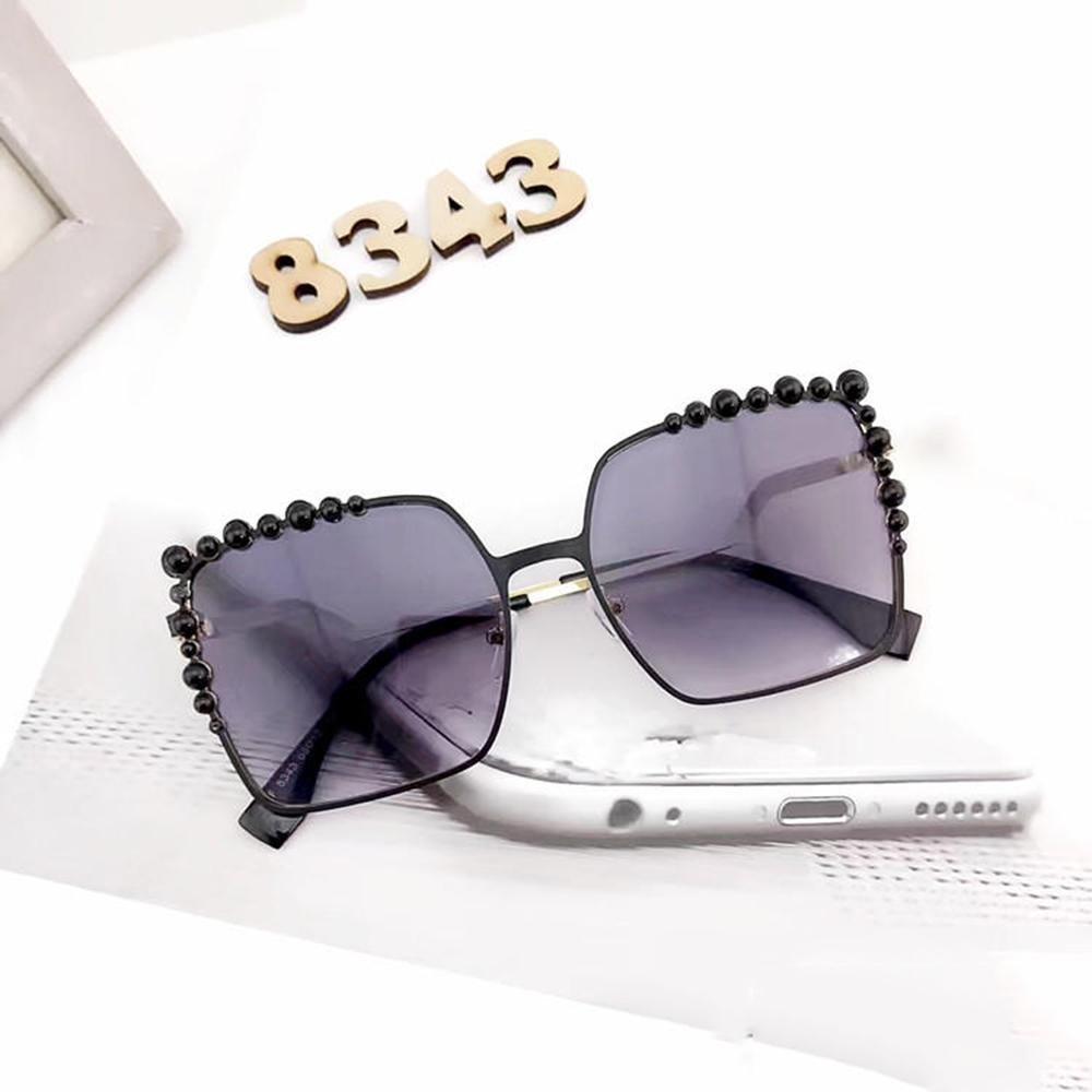 Zamp;YQ Sonnenbrille quadratische Perle Einlage Rahmen Gezeiten ...