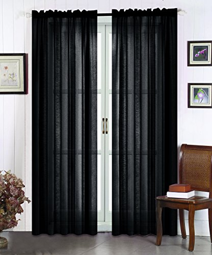 """All American Collection 2pc Doli Sheer Curtain 60""""x84"""