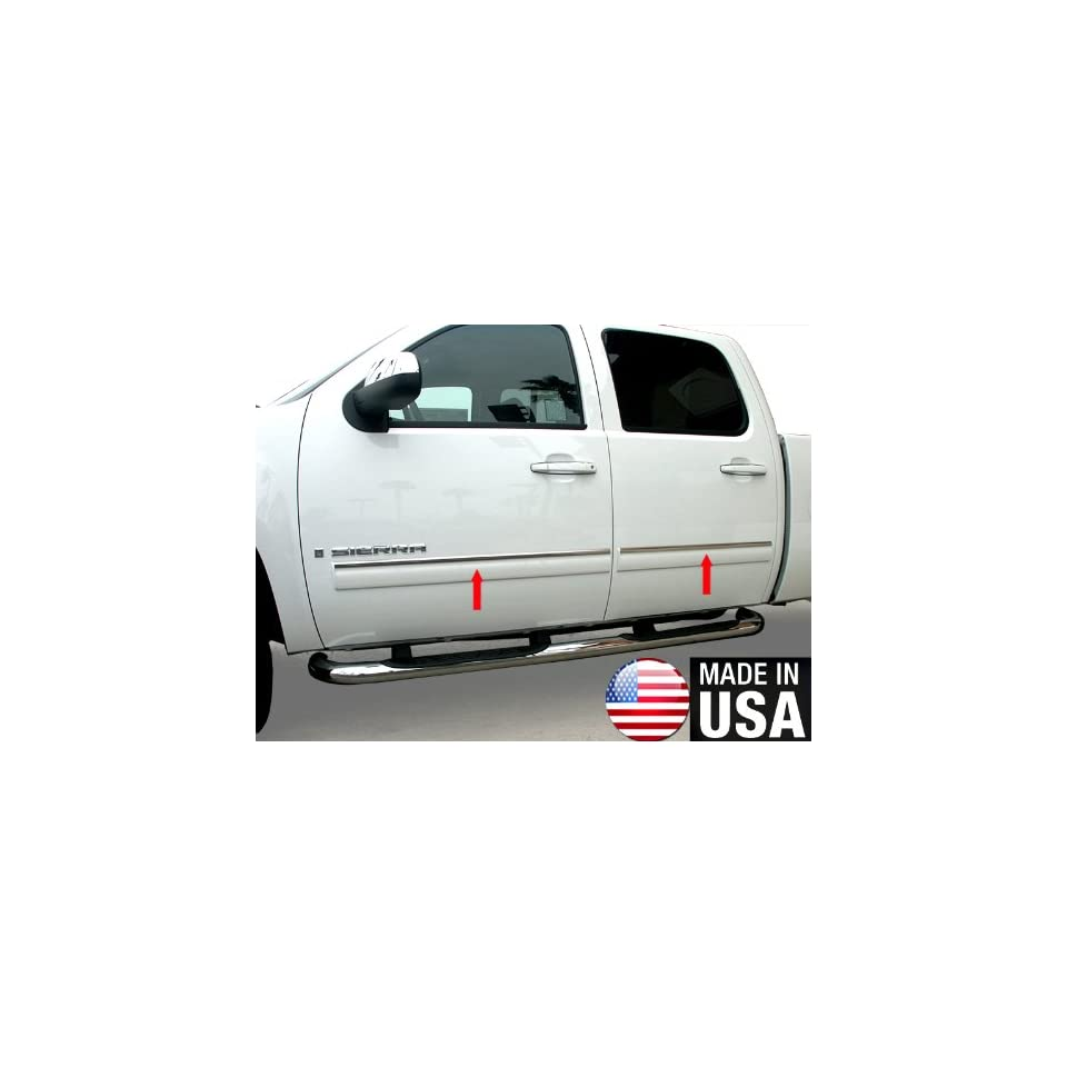 Made In USA 2010 2014 Chevy Tahoe/GMC Yukon Rocker Panel Chrome Stainless Steel Body Side Moulding Molding Trim Cover Top 1 Wide 4PC