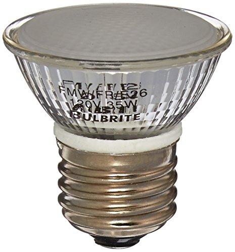 (Bulbrite FMW/FR/E26 35-Watt 120-Volt Halogen MR16 Frosted Lens Medium Base, Flood)