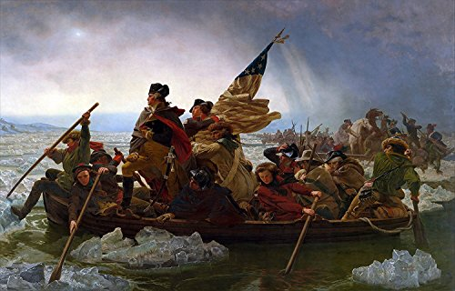 Young N Refined George Washington's Crossing of The Delaware River high qulity Print Home Decor Reproduction ()