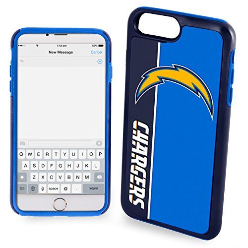 Forever Collectibles POP1016-00001 Dual Hybrid Bold Series Case for iPhone 6 Plus/6S Plus NFL San Diego Chargers