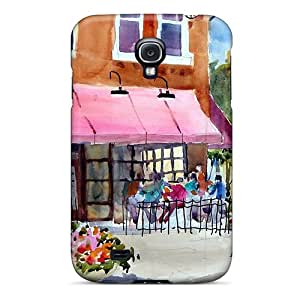 High Quality Golden-Campass Watercolor Skin Case Cover Specially Designed For Galaxy - S4