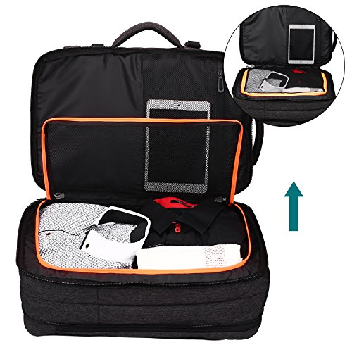 Lifeasy Travel Backpack, 35L Carry-On Daypack Flight Approved Laptop Expandable Weekender Multipurpose Trip Bag Business Backpacks with USB Charging Port Grey by Lifeasy (Image #1)