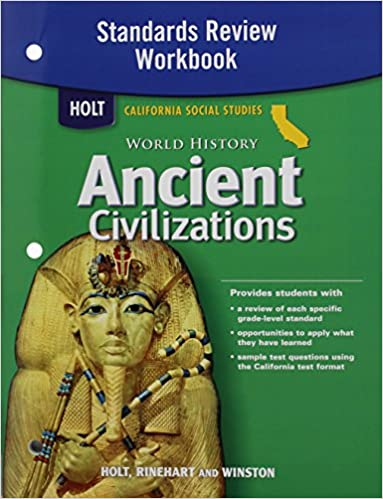 Holt world history california standards review workbook grades 6 8 holt world history california standards review workbook grades 6 8 ancient civilizations rinehart and winston holt 9780030420924 amazon books fandeluxe Gallery