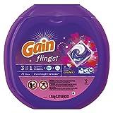 Flings Detergent Pods, Moonlight Breeze, 0.06 Pac, 72/container, 4/carton