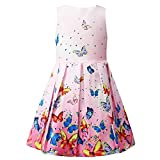 Kyпить Jxstar Girls Flower Dresses Print Rose Double Bow Party Sundress Summer Swing на Amazon.com