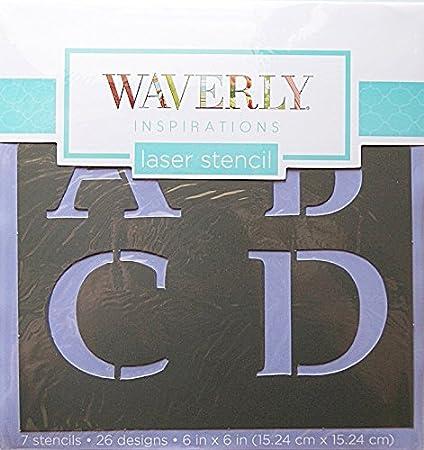 Amazon com: Waverly Inspirations Laser Cut Alpha Serif