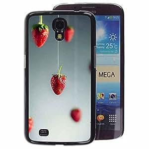 A-type Arte & diseño plástico duro Fundas Cover Cubre Hard Case Cover para Samsung Galaxy Mega 6.3 (Red Art Minimalist Grey Gray)