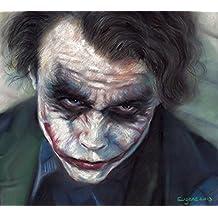 "Joker - Batman Handmade Pastel Painting Canvas High-quality Gloss Canvas Size 16""x20"""