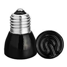 Huayang| 25W/50W/75W/100W 110V Infrared Emitter Ceramic Heated Lamp Bulb Heating for Pet Reptile-50W Black
