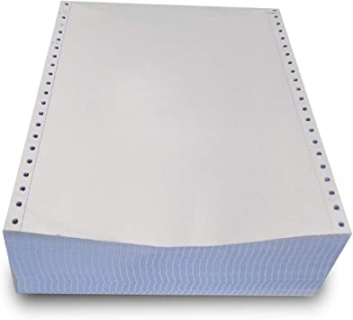 2500 Sheets Dot Matrix Printer Paper 9.5 x 11 Continuous Feed Tractor 18#