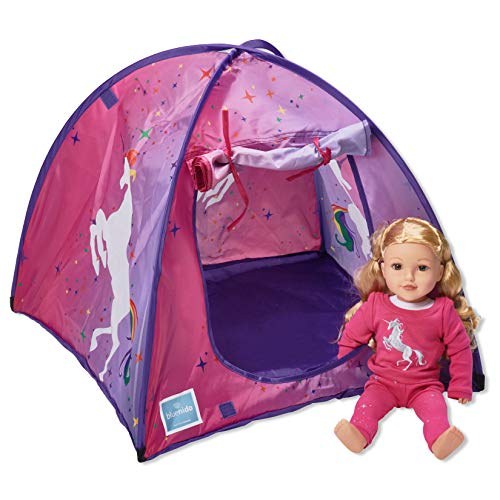 Bluenido Princess Unicorn Dollhouse Tent Perfect for 18 American Girl Dolls+