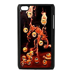 iPod Touch 4 Case Black The hands of the eye Qjbns