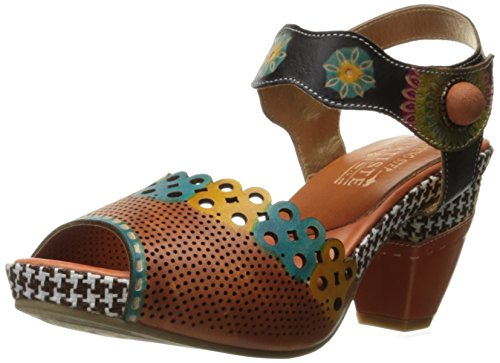 L'Artiste by Spring Step Women's Jive Sandals,  Camel Multi- 41 M EU / 9.5-10 B(M) (Spring Step Womens Star)
