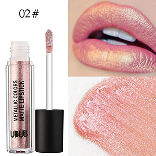 Ourhomer UBUB Waterproof Long Lasting Metal Pearl Lipstick Moisturizer Velvet Lipstick Cosmetic Beauty Makeup (B)