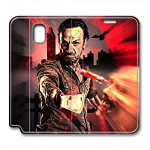 iCustomonline Leather Case for Samsung galaxy Note 3, The Walking Dead Rick Stylish Durable Leather Case for Samsung galaxy Note 3