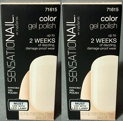 2 Pack Sensationail Color Gel Polish, Wedding Pearl,