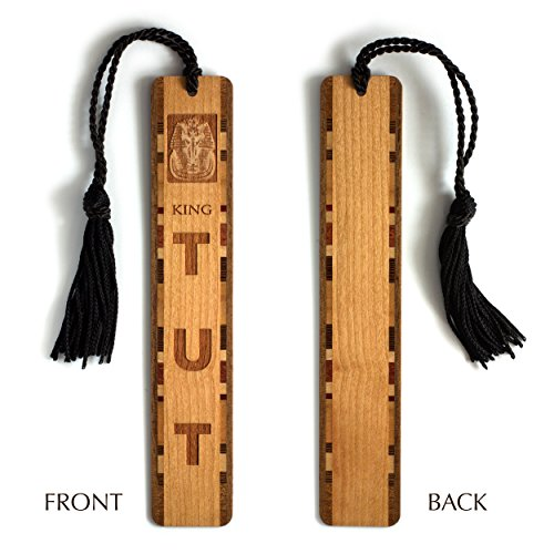 Three Stooges Mask (King Tut Egyptian Pharaoh Death Mask Engraved Wooden Bookmark with Tassel)