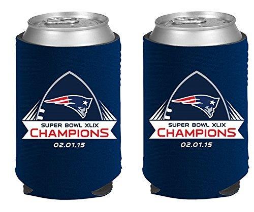 結婚祝い 新しいEngland Patriots Super 2014 Bowl 2015 XLIX 49 Champions Super NFL 2014 – 2015 Can Kaddyクージーホルダー2 - Pack B00T38LJ78, ハワイアンジュエリーAquaBelle:fb9b1b55 --- movellplanejado.com.br